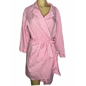 Aria Gingham Check Wrap Belt Dressing Robe